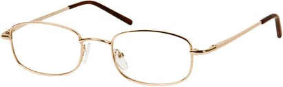 Angle of The Blake in Gold, Women's and Men's Rectangle Reading Glasses