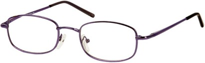 Angle of The Blake in Purple, Women's and Men's Rectangle Reading Glasses