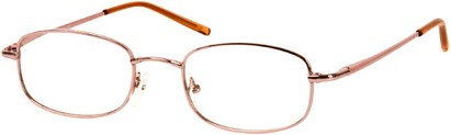 Angle of The Blake in Pink, Women's and Men's Rectangle Reading Glasses