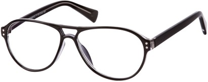 Angle of The Sanders in Black, Women's and Men's Aviator Reading Glasses