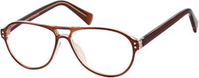 Angle of The Sanders in Brown, Women's and Men's Aviator Reading Glasses