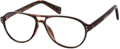 Angle of The Sanders in Brown Tortoise, Women's and Men's Aviator Reading Glasses