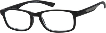 Angle of The Anthony in Black/Grey, Men's Rectangle Reading Glasses