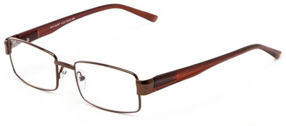 Angle of The Abram in Bronze/Brown, Women's and Men's Rectangle Reading Glasses