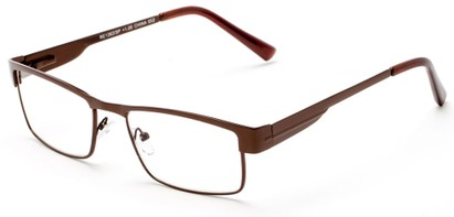Angle of The Hugh in Bronze, Women's and Men's Browline Reading Glasses