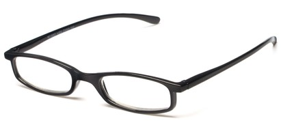 Angle of The Pierson in Black, Women's and Men's Rectangle Reading Glasses
