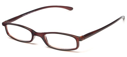 Angle of The Pierson in Brown, Women's and Men's Rectangle Reading Glasses
