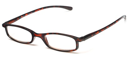 Angle of The Pierson in Tortoise, Women's and Men's Rectangle Reading Glasses
