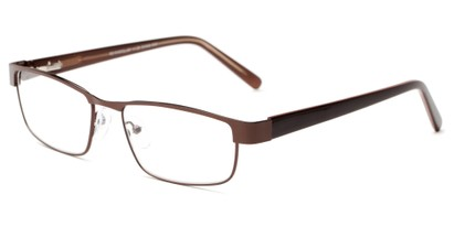 Angle of The Coffee in Bronze/ Brown, Women's and Men's Rectangle Reading Glasses