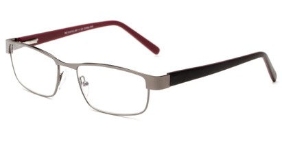 Angle of The Coffee in Grey/ Black/ Red, Women's and Men's Rectangle Reading Glasses