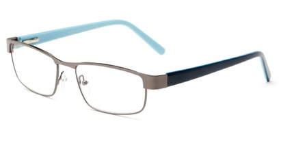 Angle of The Coffee in Grey/ Navy/ Blue, Women's and Men's Rectangle Reading Glasses