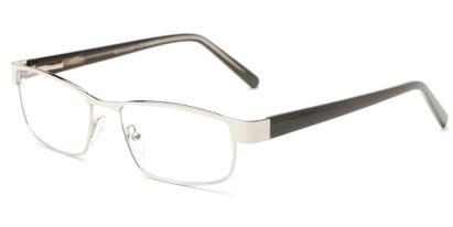 Angle of The Coffee in Silver/ Grey, Women's and Men's Rectangle Reading Glasses