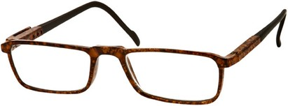 Angle of The Gardner in Brown Speckled, Women's and Men's Rectangle Reading Glasses