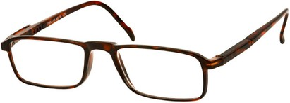 Angle of The Gardner in Brown Tortoise, Women's and Men's Rectangle Reading Glasses