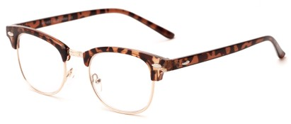 Angle of The Fern in Glossy Tortoise/Gold, Women's and Men's Browline Reading Glasses