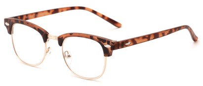 Angle of The Fern in Matte Tortoise/Gold, Women's and Men's Browline Reading Glasses