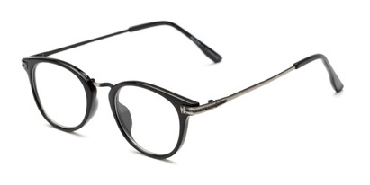 Angle of The Petty in Black, Women's and Men's Round Reading Glasses