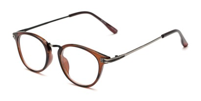 Angle of The Petty in Brown, Women's and Men's Round Reading Glasses