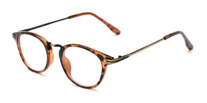 Angle of The Petty in Tortoise, Women's and Men's Round Reading Glasses