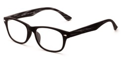Angle of The Hero in Black, Women's and Men's Retro Square Reading Glasses