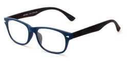 Angle of The Hero in Blue, Women's and Men's Retro Square Reading Glasses