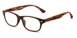 Angle of The Hero in Brown, Women's and Men's Retro Square Reading Glasses