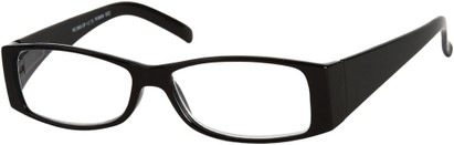 Angle of The Vienna in Black, Women's and Men's Retro Square Reading Glasses