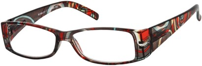 Angle of The Vienna in Grey Swirl Multi, Women's and Men's Retro Square Reading Glasses
