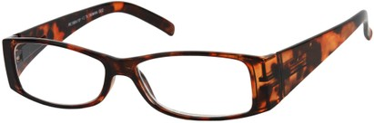 Angle of The Vienna in Brown Tortoise, Women's and Men's Retro Square Reading Glasses