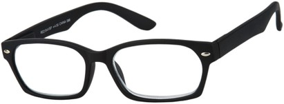 Angle of The Plymouth in Black, Women's and Men's Rectangle Reading Glasses
