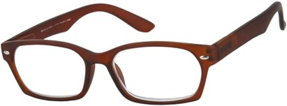 Angle of The Plymouth in Brown, Women's and Men's Rectangle Reading Glasses