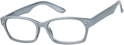 Angle of The Plymouth in Silver, Women's and Men's Rectangle Reading Glasses