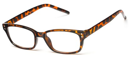 Angle of The Larson in Tortoise, Women's and Men's Rectangle Reading Glasses