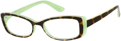 Angle of The Julianne in Green/Tortoise, Women's and Men's