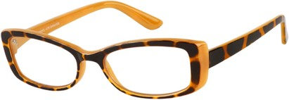 Angle of The Julianne in Orange/Tortoise, Women's and Men's