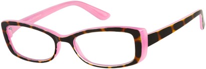 Angle of The Julianne in Pink/Tortoise, Women's and Men's