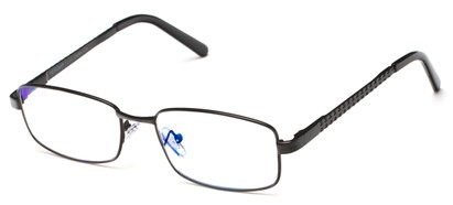 Angle of The Benedict Computer Reader in Black, Women's and Men's Rectangle Reading Glasses