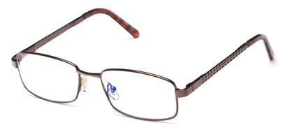 Angle of The Benedict Computer Reader in Bronze, Women's and Men's Rectangle Reading Glasses