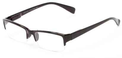 Angle of The Spice in Black, Women's and Men's Rectangle Reading Glasses
