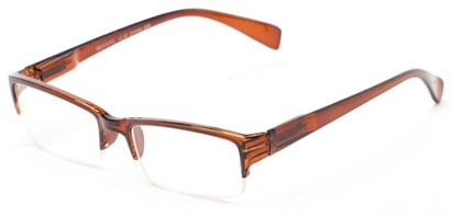 Angle of The Spice in Brown, Women's and Men's Rectangle Reading Glasses