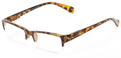 Angle of The Spice in Tortoise, Women's and Men's Rectangle Reading Glasses