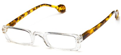 Angle of The Dylan in Clear/Tortoise, Women's and Men's Rectangle Reading Glasses