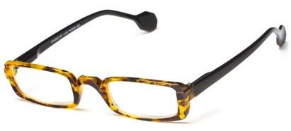Angle of The Dylan in Tortoise/Black, Women's and Men's Rectangle Reading Glasses