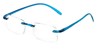 Angle of The Mozart in Blue, Women's and Men's Rectangle Reading Glasses