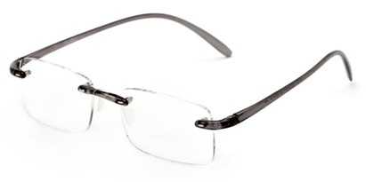 Angle of The Mozart in Grey, Women's and Men's Rectangle Reading Glasses