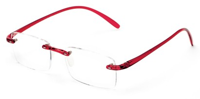 Angle of The Mozart in Red, Women's and Men's Rectangle Reading Glasses