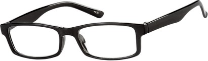 Angle of The French Lick in Black, Women's and Men's Rectangle Reading Glasses