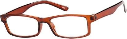 Angle of The French Lick in Brown, Women's and Men's Rectangle Reading Glasses