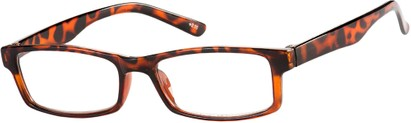 Angle of The French Lick in Tortoise, Women's and Men's Rectangle Reading Glasses