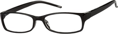 Angle of The Yorktown in Black, Women's Rectangle Reading Glasses